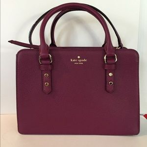 Spade Pebbled Leather Mulberry Street Lise Satchel